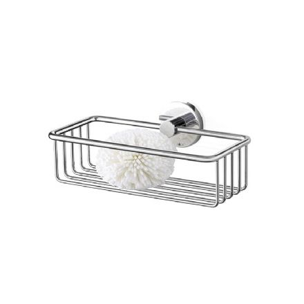 Zack Scala Wall Mounted Shower Basket Polished Stainless Steel